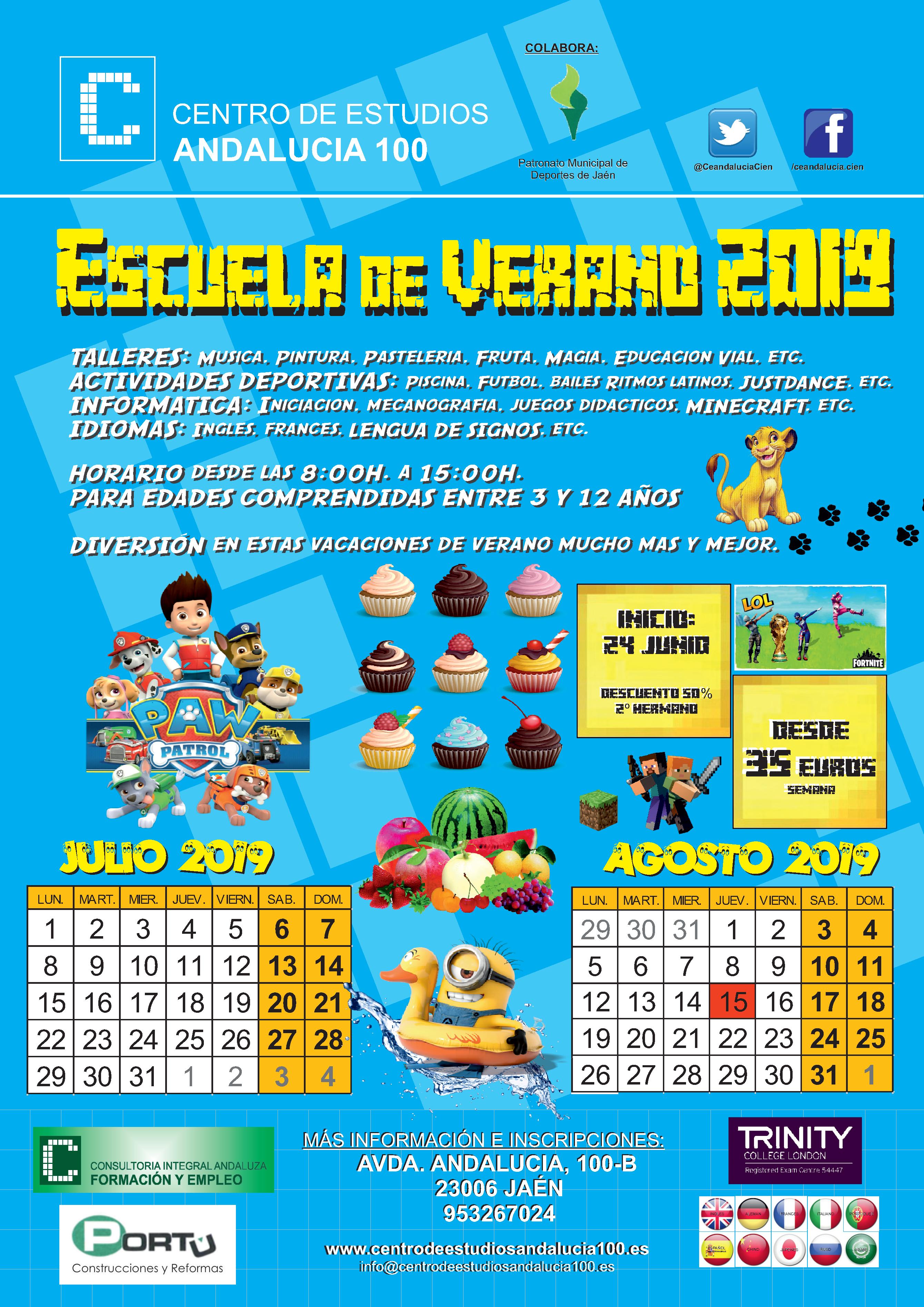 ESCUELA VERANO 2019 con Patro